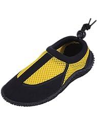 S7906 Children S 4 Colors Water Shoes Aqua Socks Slip On Kids Boys Girls Athletic Pool Beach Surf Sport Yellow...