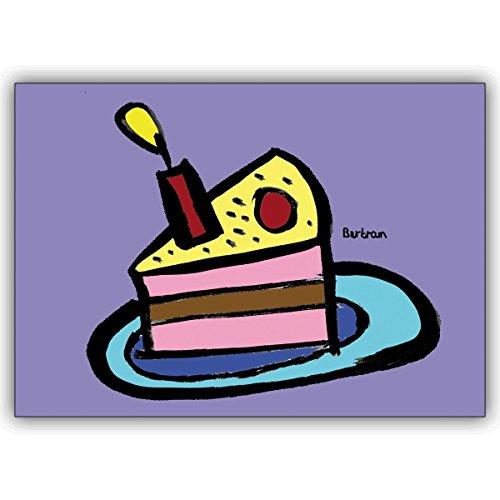 1 Geburtstagskarte: Statt backen : verschicken Sie diese Geburtstagskuchen Karte zum Gratulieren
