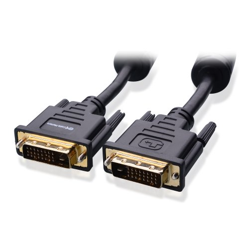 Cable Matters Gold Plated Dvi-D Dual Link Cable With Ferrites 6 Feet - 4K Resolution Ready