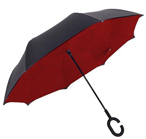 SUPRELLA PRO. Das Original.   Der Regenschirm - neu erfunden. (Schwarz-Rot)
