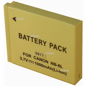 Otech D098SN Batterie pour Appareil Photo Numérique de type Canon NB-6L 3,7 V 1100 mAh