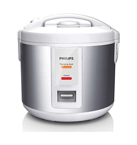 Philips-HD301108-Warmhalter-Kleine-Kapazitt-1-l-500-W-900-g-Reis-Dnsteinsatz-schwarzes-Metall-Farbe-Warmhaltefunktion-bis-zu-12-Std