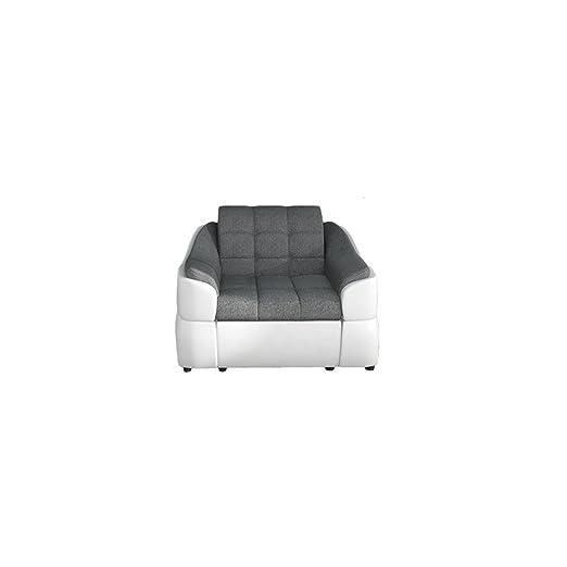 BMF Infinity Qualität 321 Sitzer Sofa Suite Set in Kunstleder oder Stoff–Elegance Line–alle Farben, ARMCHAIR