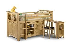 Julian Bowen Barcelona Style Single Sleep Station, Antique Pine