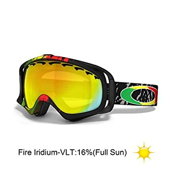 Oakley Tanner Hall Signature Crowbar Ski Goggles - Rasta Mane / Fire Iridium