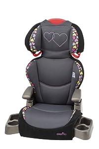 Evenflo Big Kid High Back SI Car Seat Booster, Amelia