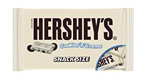 Hershey's Cookies 'n' Creme Snack Size Bars, 10.35 Ounce Bag (Pack of 4)