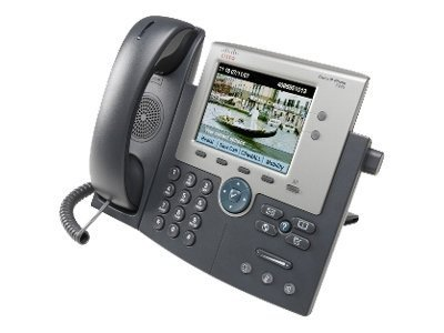 Cisco Unified IP Phone 7945G - VoIP phone - SCCP, SIP - 2-line operation - silver, dark grey(CP-7945G=) image