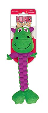 Kong BRAIDZ MEDIUM DINO Dog Tug Toy - Cleans Teeth (BR2)