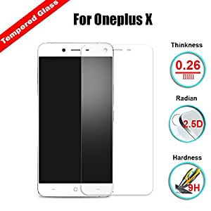 Chevron [Tempered Glass With Sensor Cut Out] 0.3mm 2.5D Screen Protector For OnePlus X (Pack Of 3)
