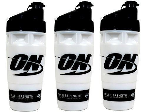 3) Optimum Nutrition Shaker Cup Mixer Protein Shake Workout Bottles, 32 fl oz