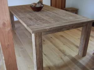 Reclaimed Teak Taplock 3m Dining Table Rustic White Wash Amazon
