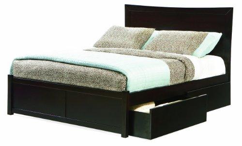 Atlantic Furniture-Miami Queen Platform Bed With Flat Panel Footboard, Espresso