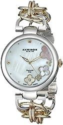 """Akribos XXIV Women's AK645TRI """"Lady"""" Diamond-Accented Watch"""