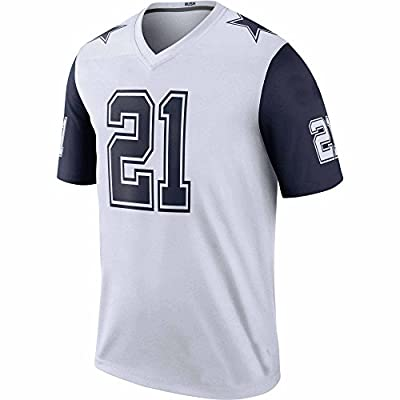 Custom Number Ezekiel Youth Elliott Dallas #21 Cowboys Jersey American Football Kids Color Rush White