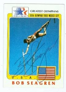 Buy Bob Seagren autographed card (Olympic Pole Vault Gold Medal) 1983 LA Olympic #35 by Autograph Warehouse