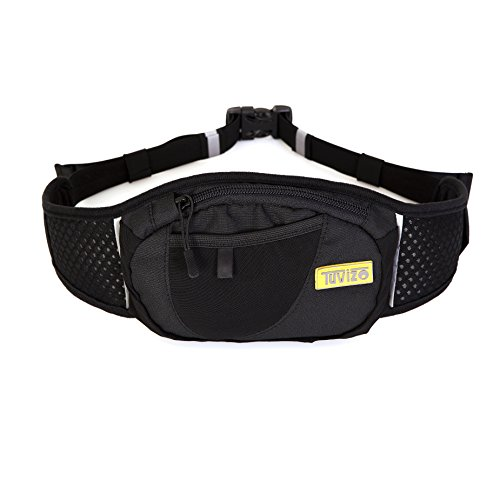 The TUVIZO 2-GO Waist Bag/Fanny Pack For Running, Cycling, Walking, Shopping or Travel. Fits up to iPhone 6.