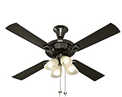 Usha Fontana Lotus 1230mm Ceiling Fan (Black Chrome)