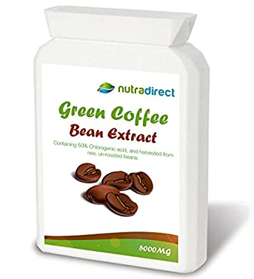 Pure Green Coffee Bean Extract 5000mg (90 Vegetarian friendly capsules) by Hectic LifestylesTM