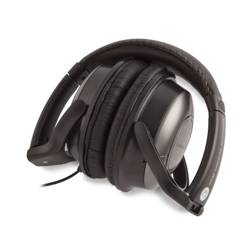 Symtek Comforttunes Noise Cancelling Stereo Headphones With Padded Ear Cups And Norton Hotspot Privacy - Retail Packaging - Black