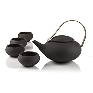 Teavana black pebble teapot set teapots - Imperial dragon cast iron teapot ...