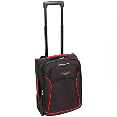 Cabin Approved Super Lightweight Wheeled Suitcase (Black/Red)