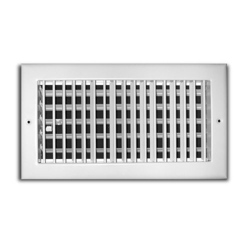 Truaire 210VM 08X04 Bar Type Supply Diffuser 8-Inch x 4-Inch Sidewall or Ceiling Air Supply Grille, White (Bar Type Register compare prices)