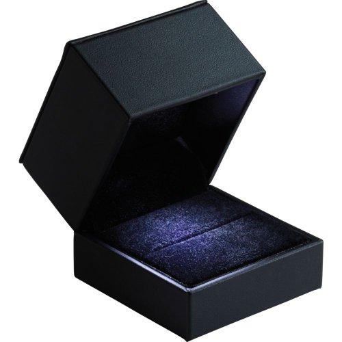 Large Black Earring/Pendant/Ring Led Lighted Box 61-4519