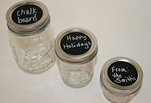 Mason Jar Chalkboard Sticker Medium Circles Set of 15 - 1