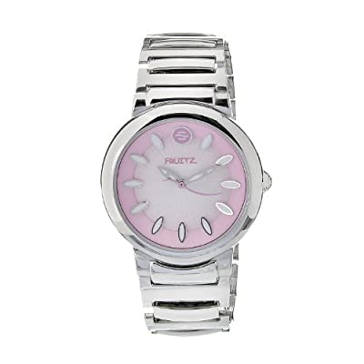 Philip Stein Men's F36S-P-EXB Quartz Stainless Steel Pink Dial Watch