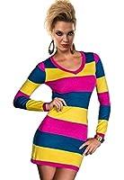 Amour Women's Striped Long Sleeves Mini Dress