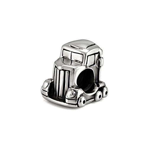 Ohm Beads Sterling Silver Trailer Truck Bead Charm
