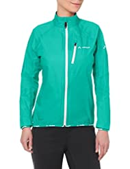 Vaude Womens Drop Jacket III - Lotus Green - 40 - Womens lightweight waterproof rain jacket