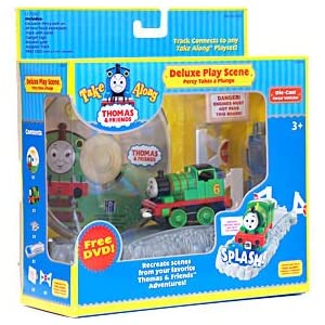 Thomas &Friends Take Along Percy Deluxe Play Scene