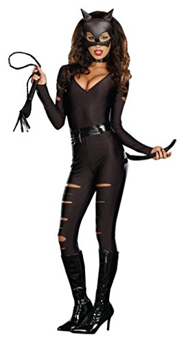 Dreamgirl Womens Night Prowler Black Catsuit Adults Halloween Themed Costume