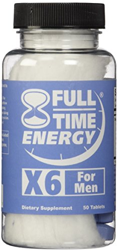 Full-Time Energy X6 for Men - 50 Tablets - Stamina Booster Energy Pills Fat Burners