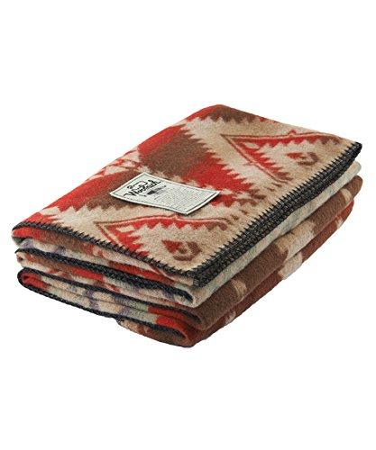Woolrich Roaring Branch Jaquard Wool Blanket, RED