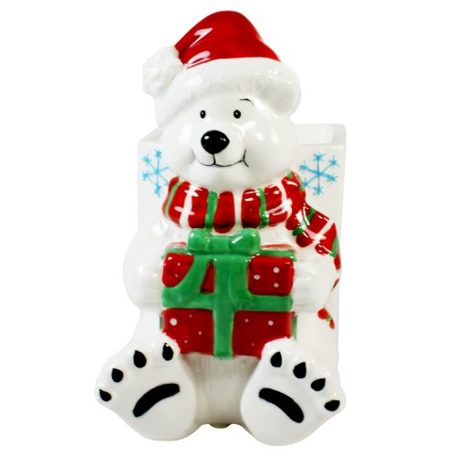 Time & Again Christmas Polar Bear Tealight Candle Holder - Tart Burner / Diffuser