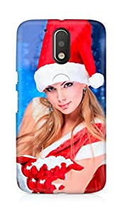 Amez designer printed 3d premium high quality back case cover for Motorola Moto G4 (Christmas (22))