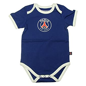 PSG - Official PSG Paris Saint-Germain Baby Bodysuit - Size : 3 months - Color : Navy blue