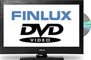 Finlux 19H6030-D 19-Inch Widescreen HD Ready LED Multi-Region DVD Combi TV with Freeview, Black