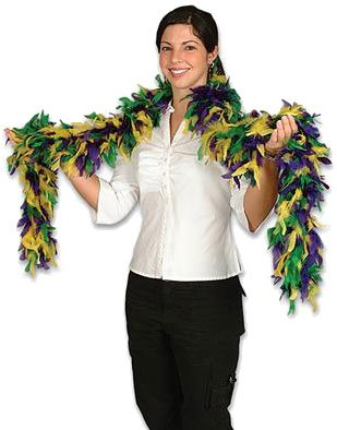 Click to buy New Deluxe Mardi Gras Costume Accessory Feather Boafrom Amazon!