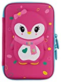 #7: Ofsign Multipurpose Cute Owl Art Pink Pencil Pouch