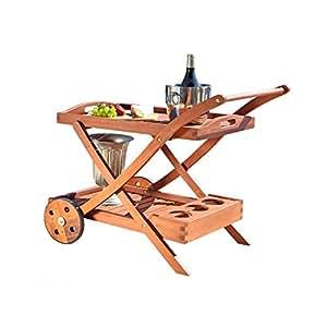 VIFAH V501 Outdoor Wood Serving Cart