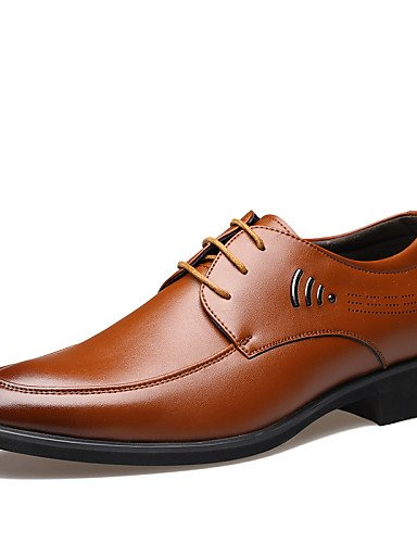 chaussures oxford Chaussures Hommes Décontracté Noir / Marron / Jaune Similicuir Richelieu , yellow-us7 / eu39 / uk6 / cn39 , yellow-us7 / eu39 / uk6 / cn39