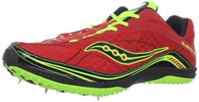 Saucony Men's Kilkenny XC4 Spike Running Shoe,Red/Citron/Black,12 M US