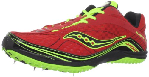 Saucony Men's Kilkenny XC4 Spike Running Shoe,Red/Citron/Black,10.5 M US