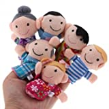 Souked 6 Pcs Finger Puppets Plush Cloth Toy Baby Bed Stories Helper Doll