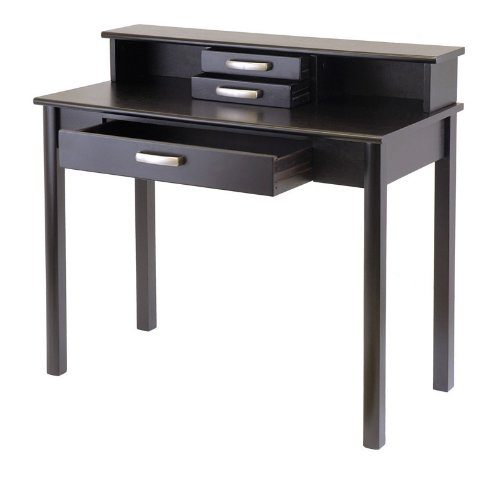 Contemporary Home Office Writing Desk with Hutch