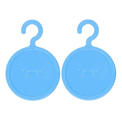 Rayen 2400 Lot de 2 Antimites PE Plastic/Natural Essence de Lavande Bleu 12,5 x 8,5 x 0,5 cm